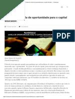 6B-SOUZA, Artur; EVANGELISTA, Olinda (2020) Pandemia; Janela de oportunidade para o capital educador
