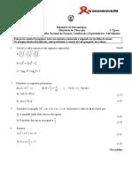 Matemática Enunciado 10cla 2ªép 2012