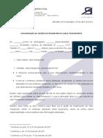 DECLARAÇÃO DE OPÇÃO DE RECEBIMENTO VALE-TRANSPORTE