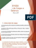 REVISÃO Para AV1 - Gestão de Cargos e Salários (07.04.2016)