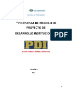 MODELO DE PROYECTO DE DESARROLLO INSTITUCIONAL