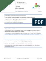 Prova Modelo 4 Grupo Recursos Para Matematica