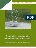 Femicidios y feminicidios en Nuevo León 2005-2007