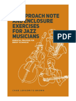 Chad Lefkowitz Brown_15 Approach Note Enclosure Exercises for Jazz Musicians Treble Clef