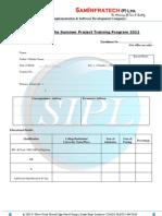 SIPL-Summer Training Application Form