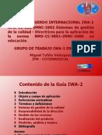 IWA2 Calidad en Instituciones Educativas