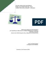 analisis de la Ley contra el Feminicidio