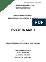 elezioni - programmaCORTI