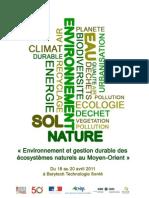 programme seminaire environnement AUF