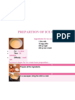 PREPARTION OF ICE CREAM