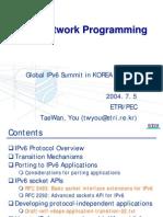 IPv6 Network ProgrammingIPv6 Programming