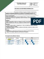 Programa Anual de Auditorias Internas