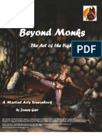 Beyond Monks, The Art of the Fight - A Martial Arts Source Book