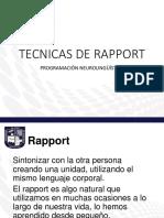 TECNICAS DE RAPPORT