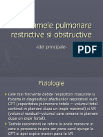 Sindroamele pulmonare restrictive si obstructive