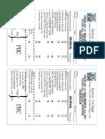 Prc Checklist of Requirements
