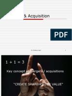 Mergers & acquisition 2