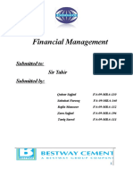 Best Way Cement Financial Analysis