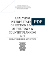 ANALYSIS & INTERPRETATION OF SECTION 10-12 OF THE TOWN & COUNTRY PLANNING ACT