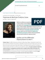 Hypnose et deuil par Evelyne Josse