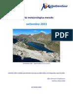Analisi Meteorologica Settembre2021