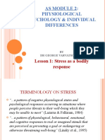 AS Module 2 Physiological Psychology and Individual Differences - Stress