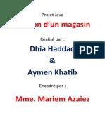 Projet JAVA Dhia & Aymen Meca 3.1