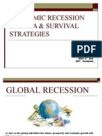 ECONOMIC RECESSION IN INDIA & SURVIVAL STRATEGIES