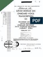 Apollo 14 Onboard Voice Transcription LM