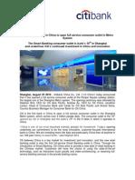 Citibank retail banking in China
