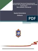 Gaceta Universitaria Ordinario N004-2019