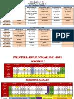 Calendar an Scolar 2021 2022