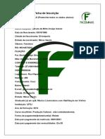 Ficha de Inscrição Faceminas. (44)