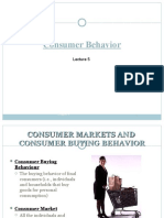 Lecture 5 - Consumer Behavior