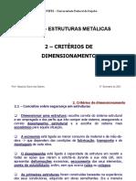 01 - Critérios de Dimensionamento