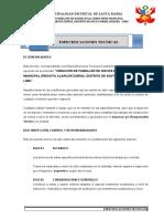 3. ESPECIFICACIONES TECNICAS CEMENTERIO