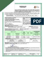 Certificado Biolatina 2010-2011, CACVRAE