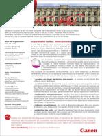 Bénéfice du partenariat en Canon et la Ville de Vittel