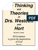 Thinking and Theories of Westcott and Hort