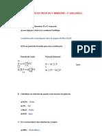 Teste 1 Bim (2ano) - Gabarito