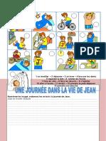 Une Journee Dans La Vie de Jean Briser La Glace Dictionnaire Visuel Liste de Vocab 81263