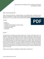 O modelo médico e sua importância para a inclusão social da pessoa com deficiência no Brasil