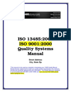 iso 13485 2016 quality manual
