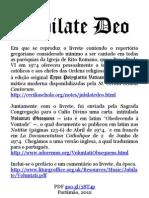 Jubilate Deo de Paulo VI em Português