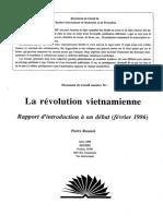 Pierre Rousset, La révolution vietnamienne. Rapport d'introduction à un débat (février 1986), IIRF Document de travail n° 16