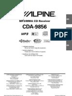 Alpine CDA-9856 Manual