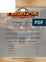 Legends Sports Bar & Grille's Menu