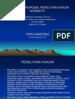 PENULISANPROPOSALPENELITIANHUKUMNORMATIF1