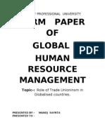 Globalisation term paper
