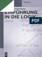 Ansgar Beckermann - Einführung in Die Logik (2014)